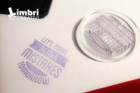 Let's make better mistakes tomorrow - Misura timbrata: 40*40 mm - 17,70 €