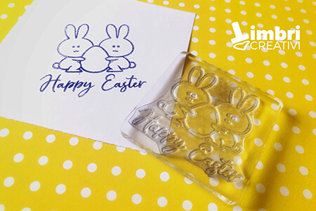 Happy Easter - Misura timbrata: 50*47 mm - 20 €