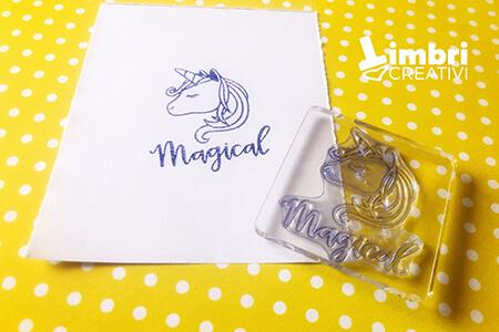 Magical unicorn - Misura timbrata: 50*50 mm